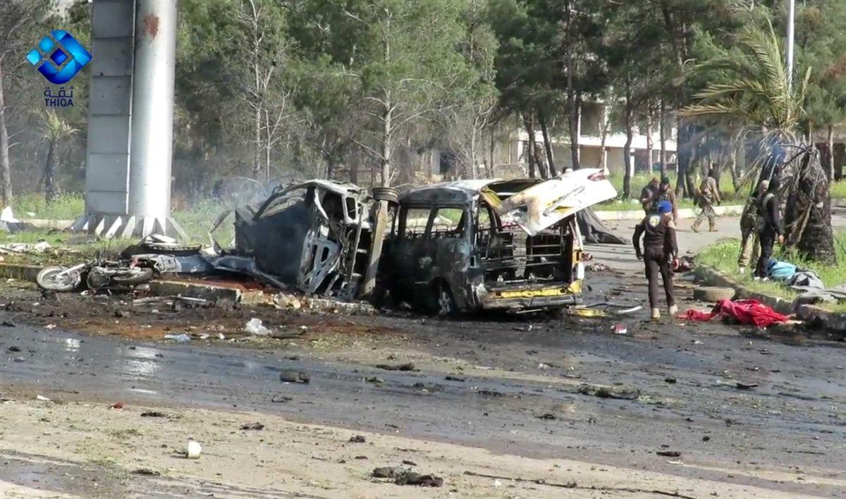 Atentado mata civis realocados na Síria