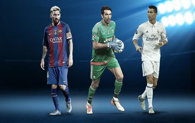 Cristiano Ronaldo nos três finalistas para Jogador do Ano da UEFA