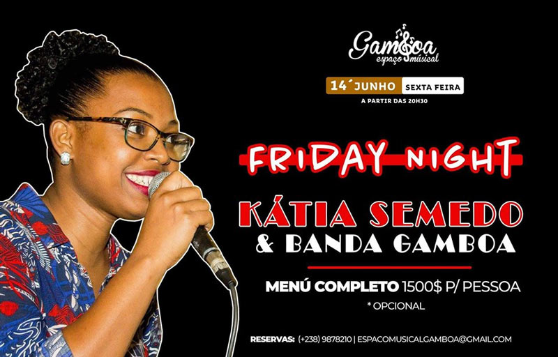 """Friday Night"" com Kátia Semedo & Banda no Espaço Musical Gambôa"