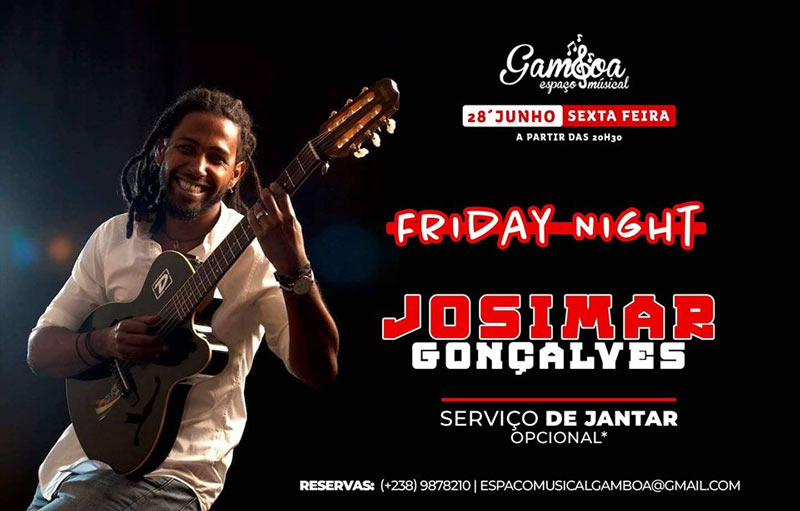 """Friday Night"" com Josimar Gonçalves no Espaço Musical Gambôa"